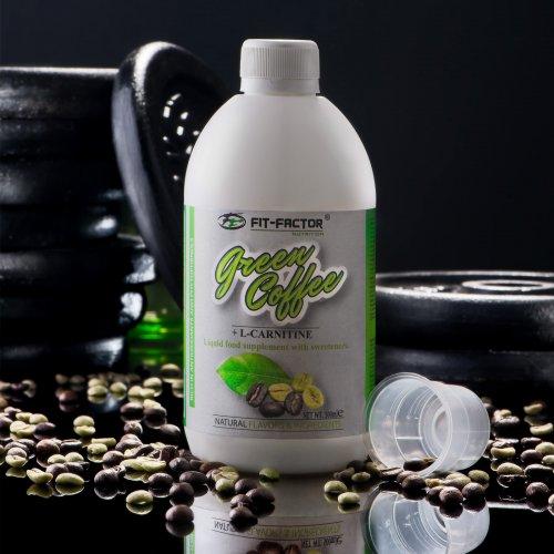Зелено кафе + Л-карнитин за отслабване 500мл