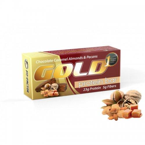 GOLD Протеин бар / брауни - Карамел с американски орех и бадеми