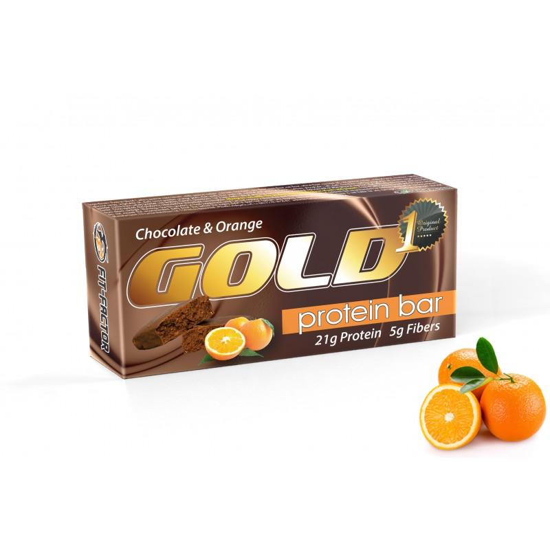 GOLD Протеин бар / брауни - Портокал